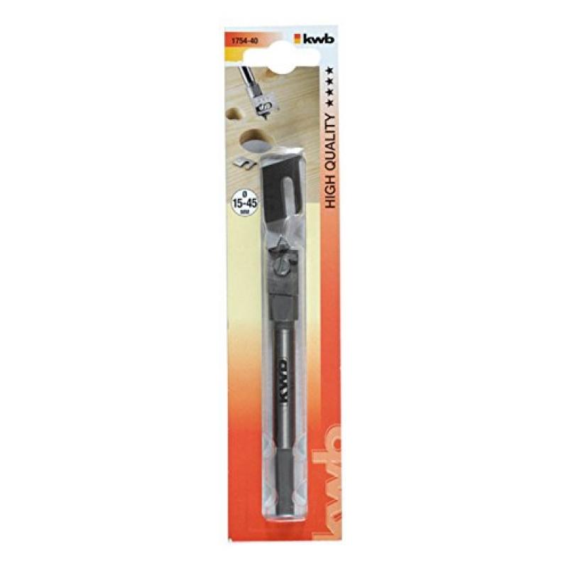 Сверло плоскофрезерное (перовое) переменного диаметра, 15 - 45 мм KWB 1754-40