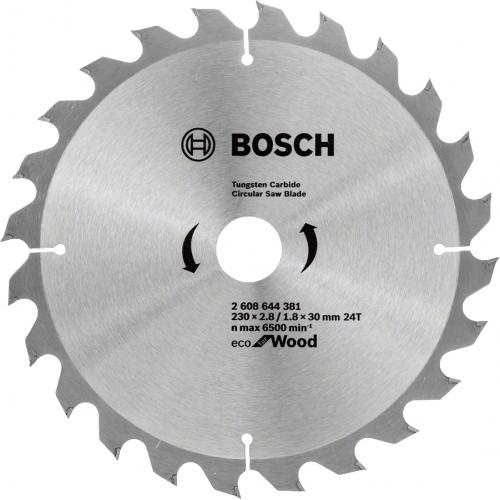Диск пильный по дереву Bosch 230x30x2,8х24T ECO for Wood (2608644381)