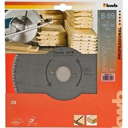 Пильный диск KWB B69 190x30x1,4x72z без напайки чистый рез