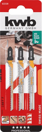 Пилочки Kwb 6223-20 Набор для ламаната BIM 3шт