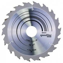 Bosch 2608640789 Speedline Wood 165x30х18х2,4мм