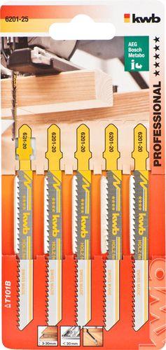 Пилочки Kwb 6201-25 T101B 5шт Чистый рез