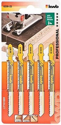 Пилочки Kwb 6208-25 T101BR 5шт Чистый рез зуб вниз