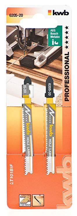 Пилочки Kwb 6205-20 T101BIF 2шт Чистый рез Ламинат