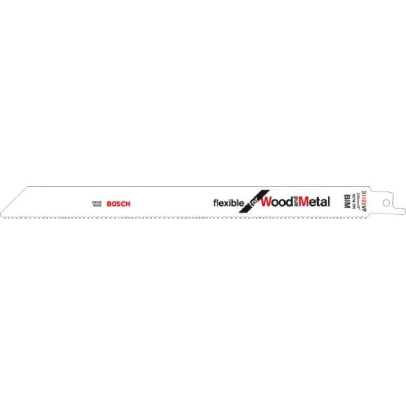 Сабельное пильное полотно Bosch S 1122 VF  Для дерева и металла 225мм 1шт